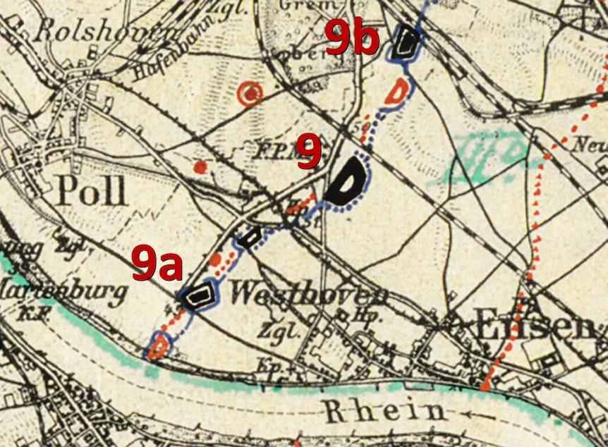 Historische Karte Fort IX