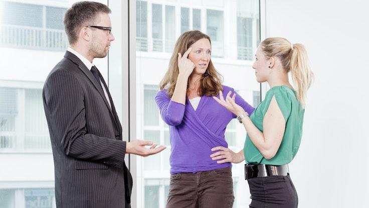 Kollegen streiten sich